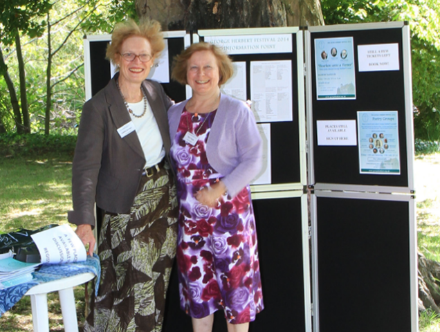 Information Point - Lesley Burton (Festival Secretary)(L) and Pam Court (Festival Administrator)(R)