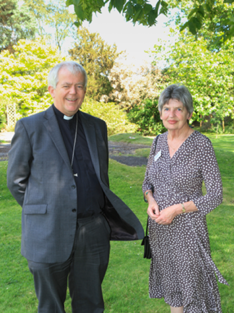 Bishop Nicholas Holtam (Host) and Festival Chairman Canon Judy Rees