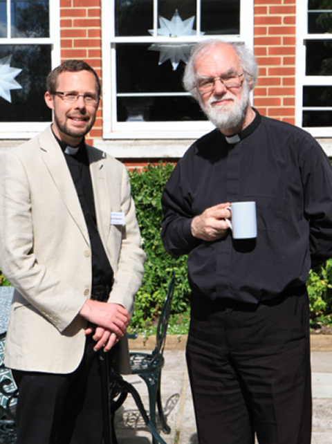 Committee Member Canon Tom Clammer (L) and Contributor Dr. Rowan Williams (R)